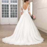 Très Chic TC9234 a-line ball gown with open back