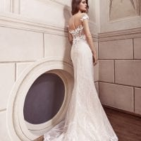 Elisabeth Grace EG9446 long mermaid wedding dress backside