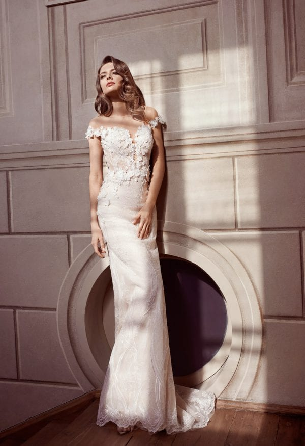 Elisabeth Grace EG9446 long mermaid wedding dress