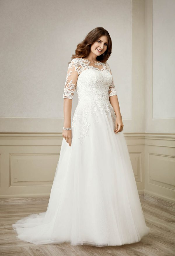 ME-20186f plus size brautkleid