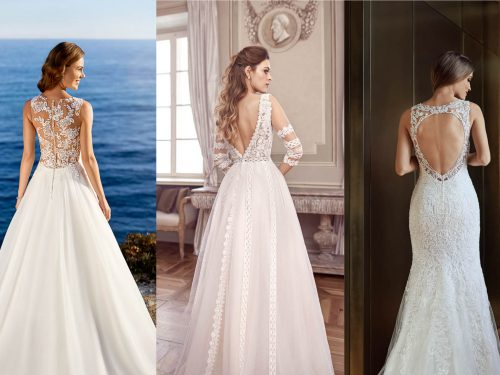 Trend 2020 | Bridal dresses with special back accents